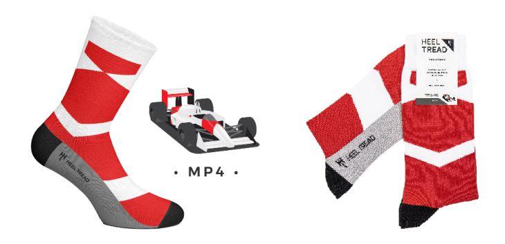 Chaussette Heel Tread aux couleurs de la McLaren MP4/4